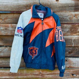Vintage 90s Chicago Bears Sharktooth leather Coat
